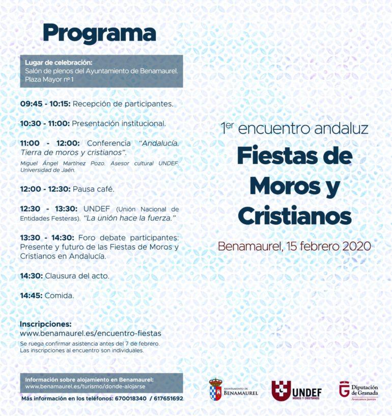BENAMAUREL ORGANIZA EL I ENCUENTRO ANDALUZ DE MOROS Y CRISTIANOS Y UNDEF