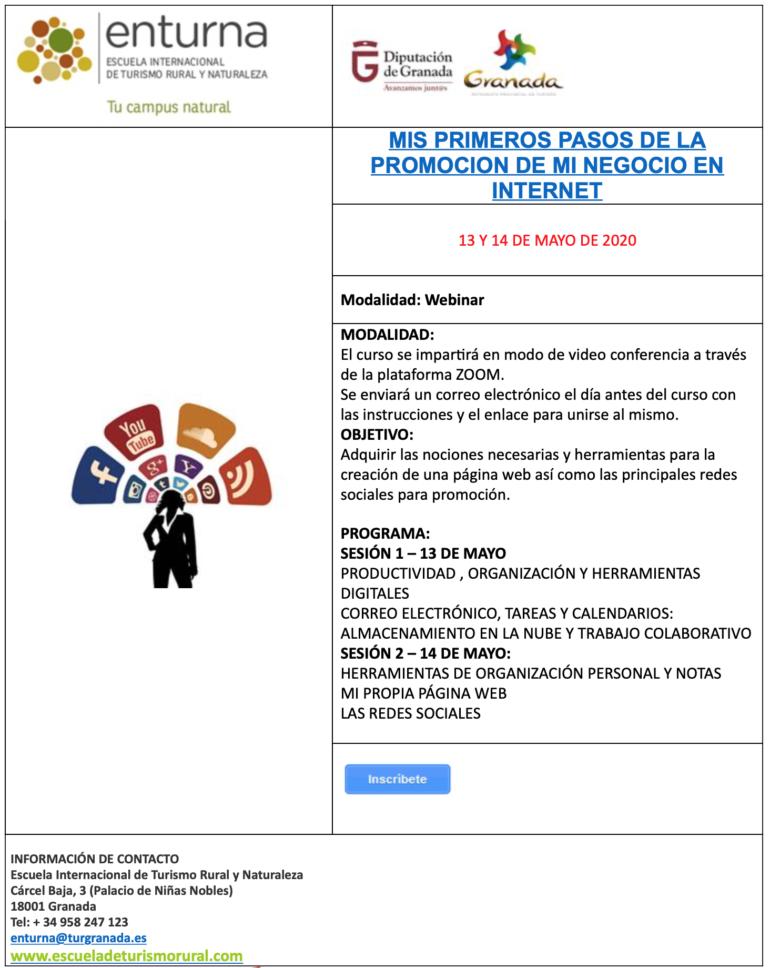 La Escuela de Turismo Rural de Diputación ofrece un curso gratuito para promocionar negocios en internet.