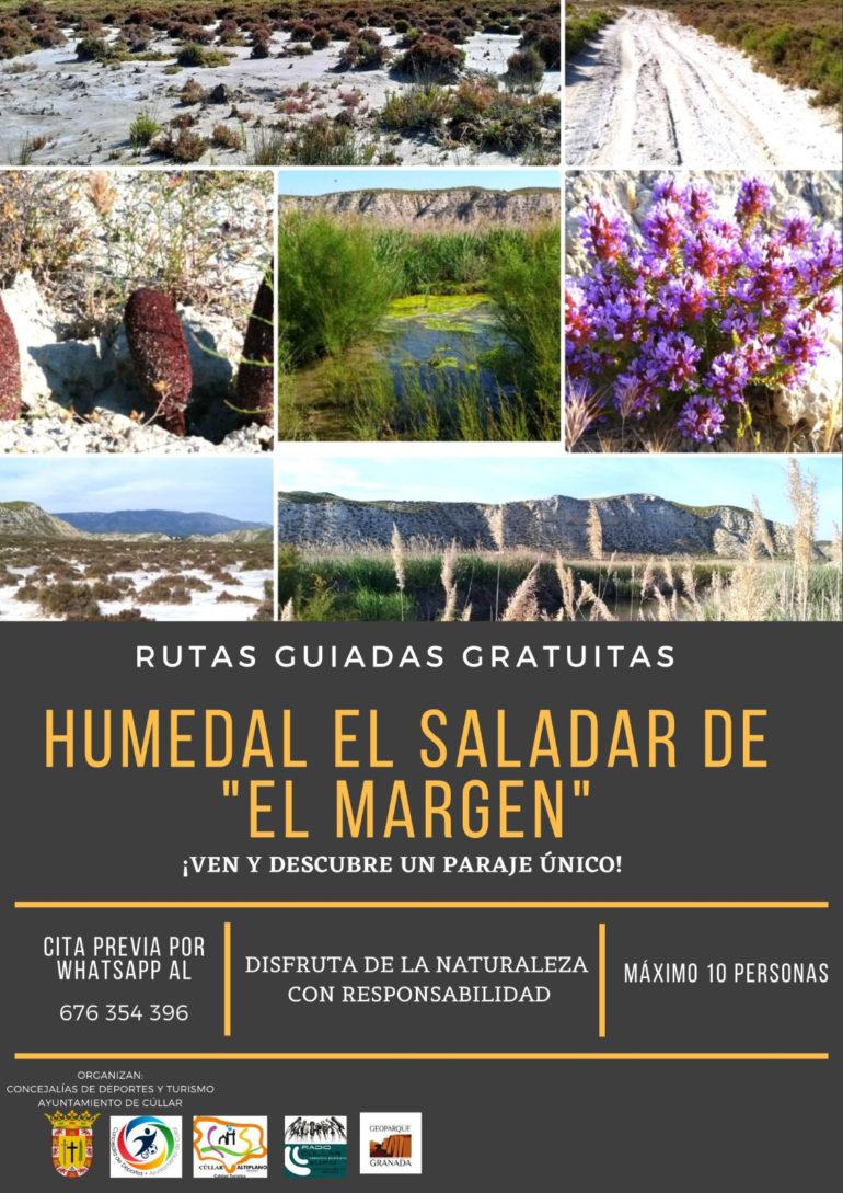 """RUTAS GUIADAS GRATUITAS. HUMEDAL EL SALADAR DE """"EL MARGEN"""""""