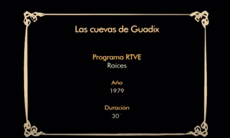 Cuevas de Guadix programa Raíces RTVE 1979 parte 01 -