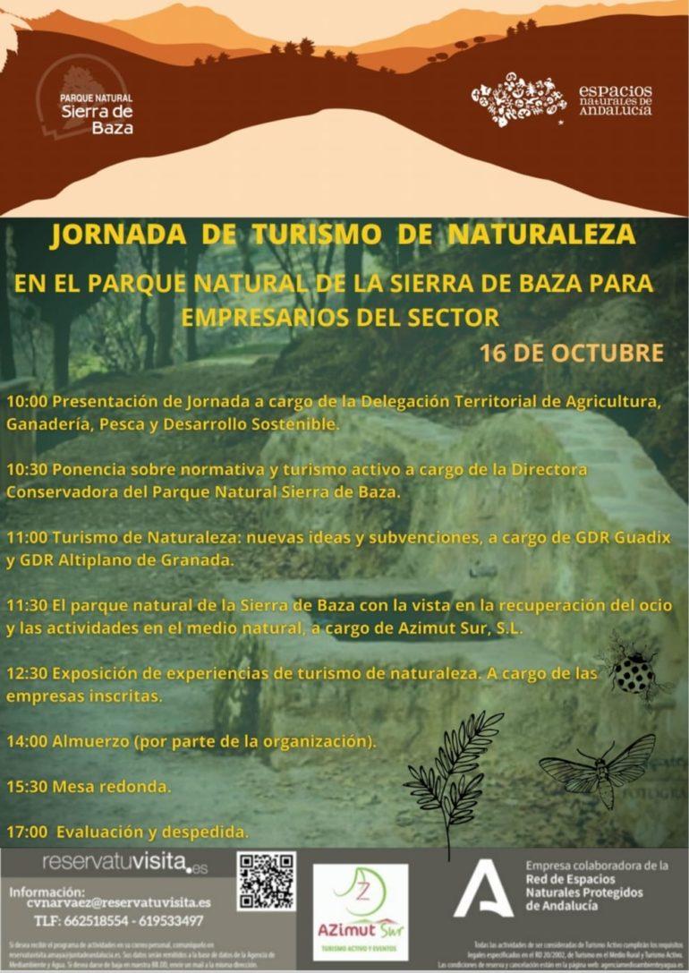ANULADA!!! JORNADA DE TURISMO DE NATURALEZA EN EL PARQUE NATURAL DE LA SIERRA DE BAZA PARA EMPRESARIOS DEL SECTOR.