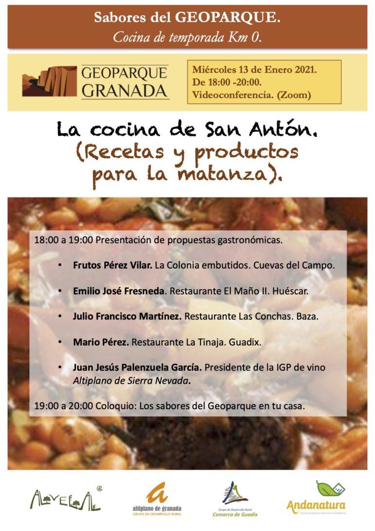 """""""Sabores del Geoparque: Cocina de temporada Km 0""""."""