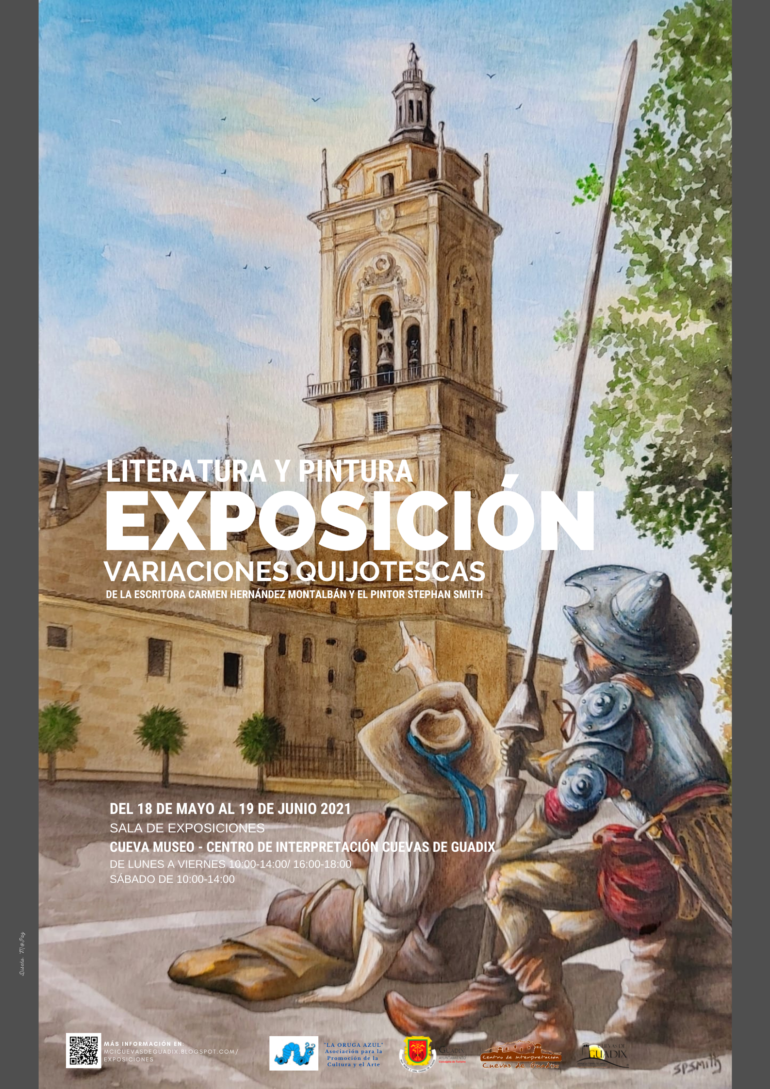 """Exposición temporal """"Variaciones Quijotescas"""", de la escritora accitana Carmen Hernández Montalbán y el pintor inglés Stephan Smith."""
