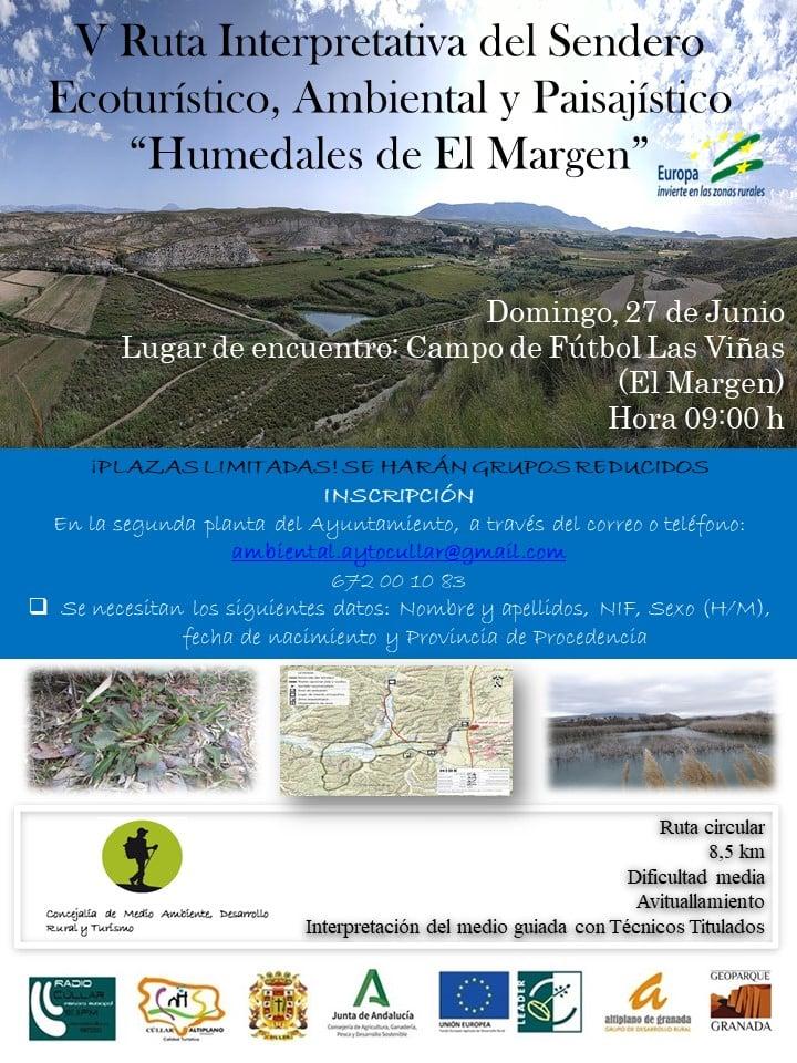"""Ruta Interpretativa del Sendero Ecoturístico, Ambiental y Paisajístico """"Humedales de El Margen"""""""